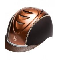 SCHARF hjelm Kobber m brun samt Metallic Sunshine og Crystal Copper