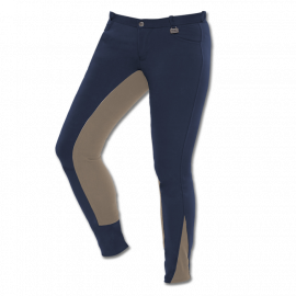 Merkur Ridebukser - Mørkeblå/sand