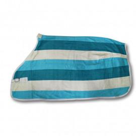 LukniFleece tæppe ponyng foran med pin spænde Brystområdet dobbeltlags fleece hale snor åndbar og svedeabsorberende Kategori: Tæpper