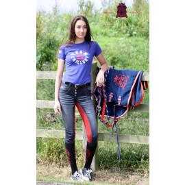 Ridebukser Jeans rdt fuldskind Chillout Horsewear