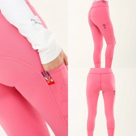 Leggings pink med lomme på lår -Chillout Horsewear