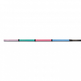 Regnbuefarvede gummitøjler