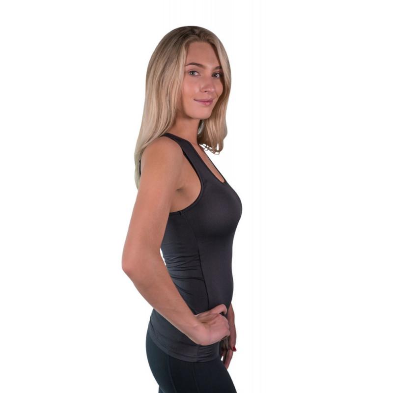 Charlotte Basic Tank top sort KASTEL DENMARK